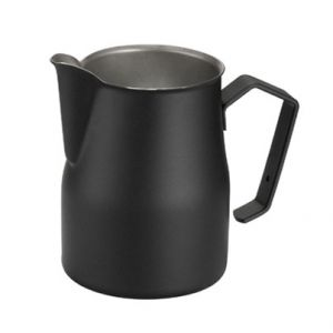 Black professional milk jug 75 cl
