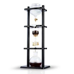 YAMA 6-8 CUP COLD DRIP MAKER STRAIGHT BLACK WOOD FRAME (32OZ)