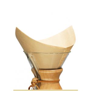 CHEMEX COFFEE FILTERS 100 BONDED UNBLEACHED SQUARES FSU-100