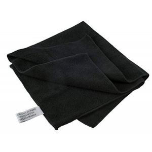 PREMIUM BLACK MICROFIBER CLOTH 40X40CM WITH EYELET AND SNAP