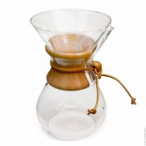 CHEMEX SIX CUP CLASSIC SERIES GLASS COFFEE MAKER - 6 CUP