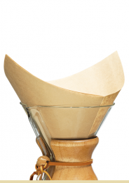 CHEMEX COFFEE FILTERS 100 BONDED UNBLEACHED SQUARES FSU-100